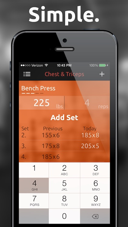 Fitted Lifts - Workout log and exercise tracker for bodybuilding and weight training screenshot-0