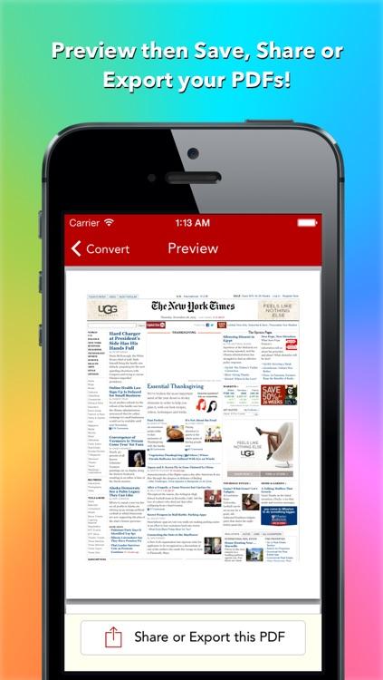 Red: Web to PDF Converter