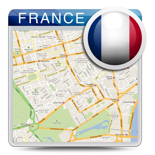 France offline road map, guide & hotels (FREE edition)