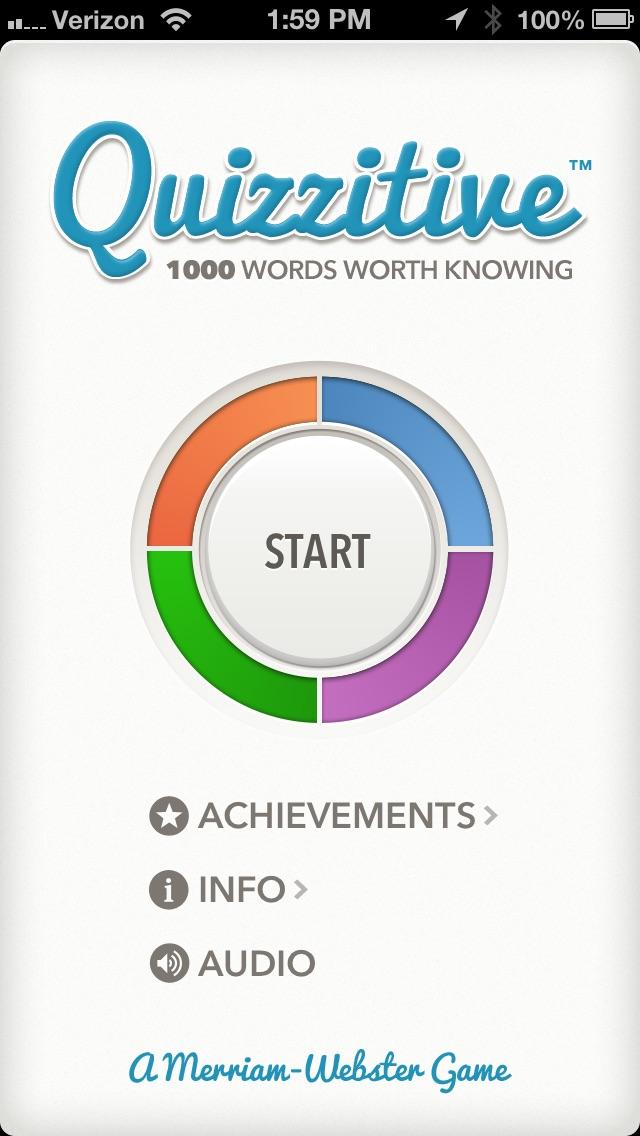 Quizzitive – A Merriam-Webster Word Game Screenshot
