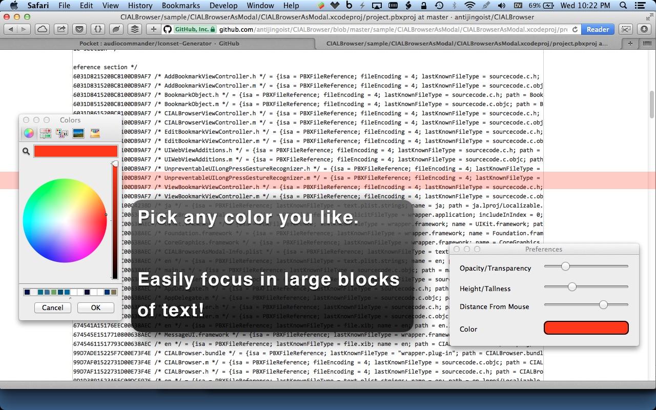 Screenshot do app Overlays!
