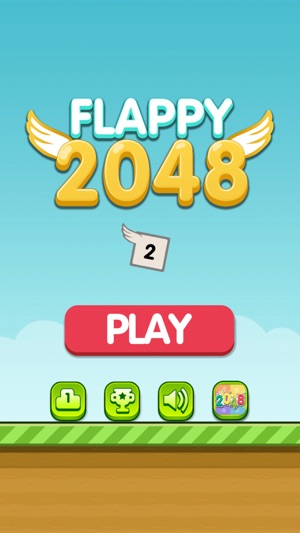 Flappy 2048 - Flap your wings and Jump through the Tiles to reach