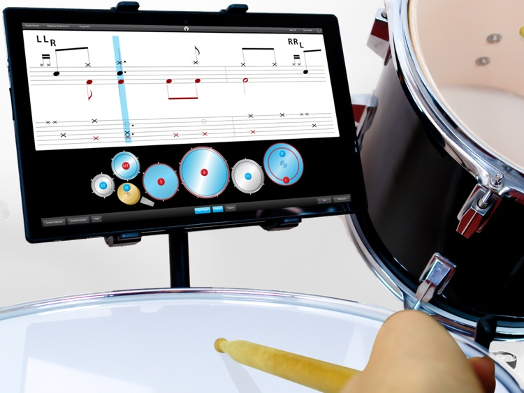 Drums - Learn Lessons & Practice Drumming Drum Skills Rhythm Training Teach Music Patterns Educational with Purely Sight Reading Metronome