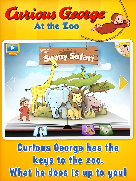 Curious George: Zoo Animals for iPad screenshot-0