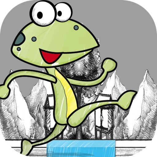 Kermit the Doodle Frog Runner - A Pond Hopping Strategy Game FREE