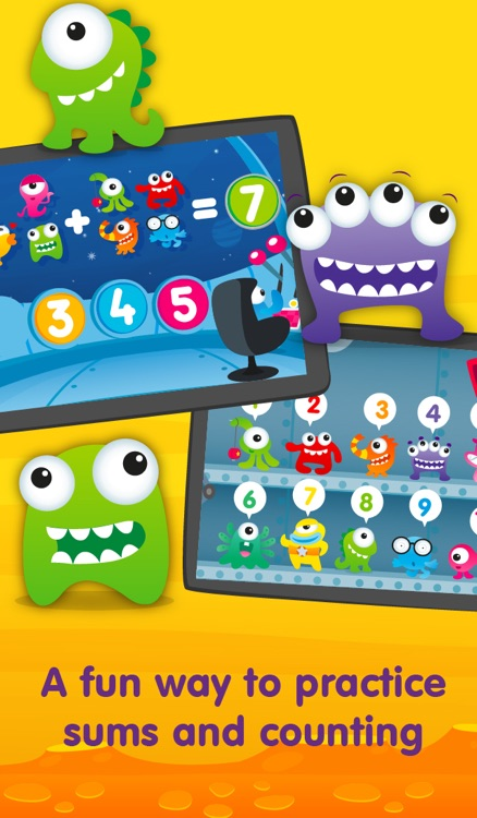 Aliens & Numbers - games for kids to learn maths and practice counting (Premium)
