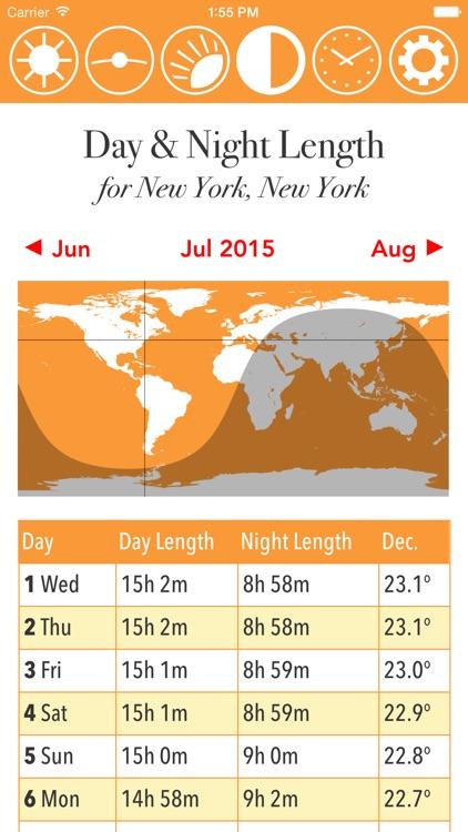 Sunshine Calendar and Solar Analemma screenshot-3