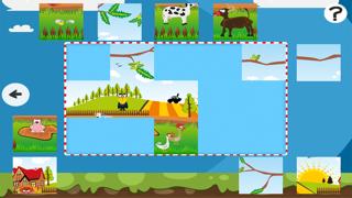 農場拼圖 - 拼圖兒童,幼兒和家長的遊戲! 學習 與動物,農民,牛,馬,羊,鵝,鴨,蜜蜂和蝴蝶的幼兒園,學前班和幼兒園屏幕截圖5