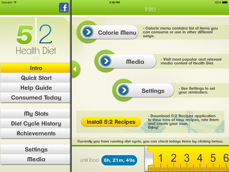 5:2 Health Diet App for iPad