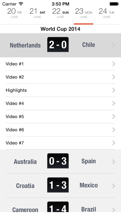 iHighlights - watch all football highlights and goals