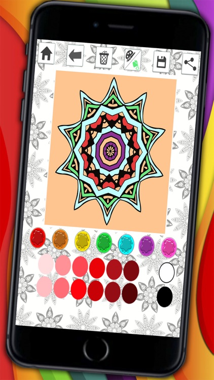Mandalas coloring pages – Secret Garden colorfy game for adults screenshot-3