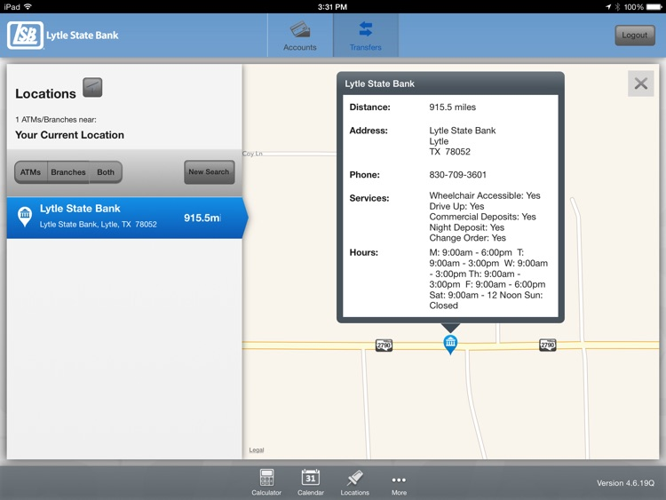 Lytle State Bank Mobile App for iPad screenshot-3