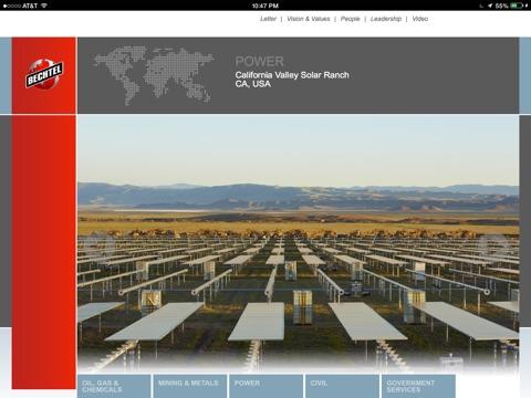 Screenshot of Bechtel 2013 Annual Report