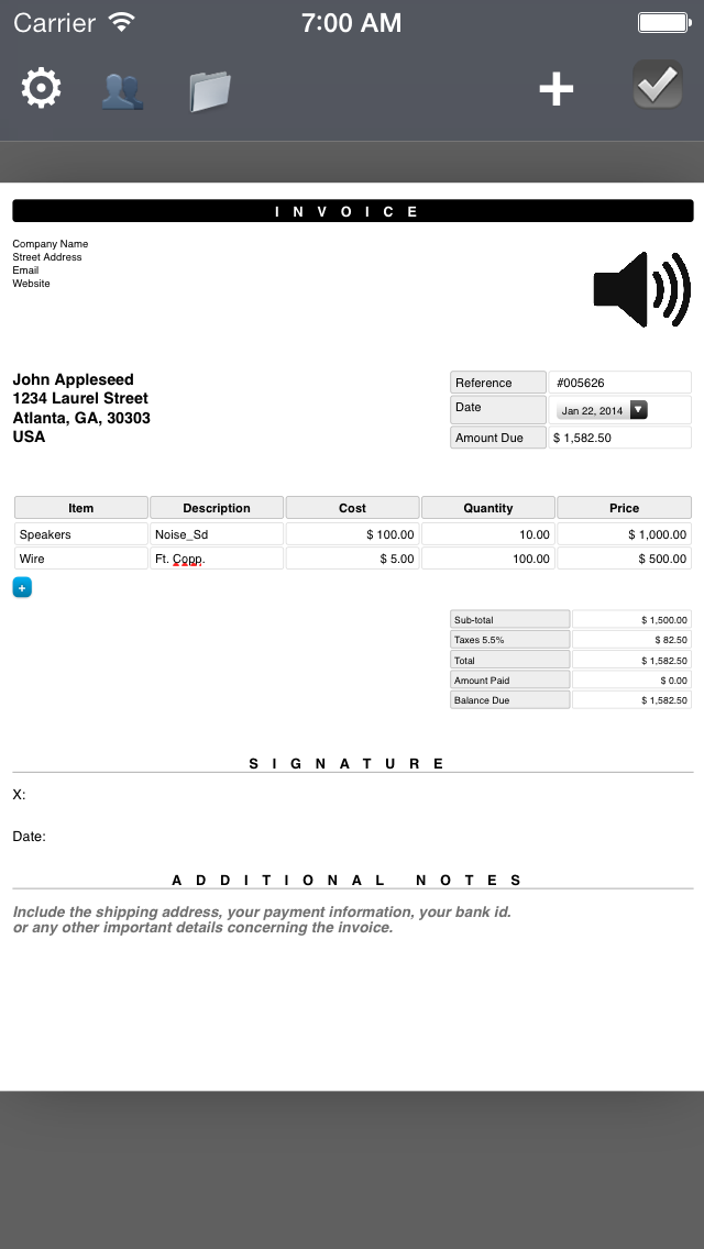 PDF Invoice Generator : Quick and Easy invoicing template app for the mobile freelancersのおすすめ画像3