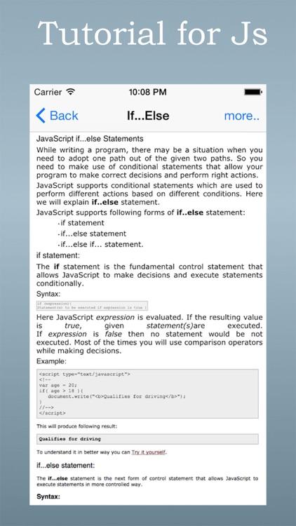 Tutorial for Java Script screenshot-4