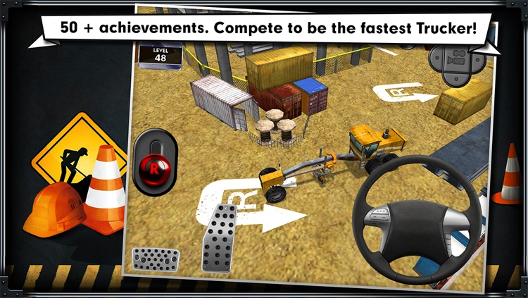 Trucker: Construction Parking Simulator - realistic 3D lorry and truck driver free racing game screenshot-3