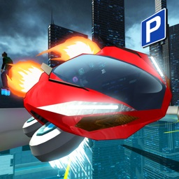 Hover Car Parking - Flying Car Hovercraft City Racing Simulator Game PRO