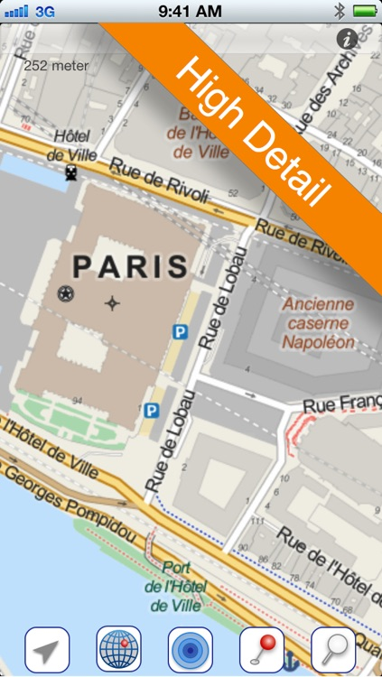 Paris Offline Map By M T O Popma