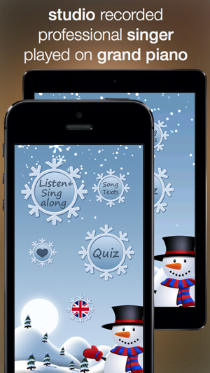 Christmas Music - studio recorded songs to sing along and