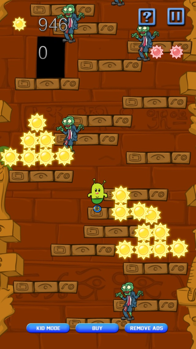 Screenshot #9 for Doodle Alien vs Zombies Jump Game - Heads Up While Also Killing The Pacific Rim Plants!