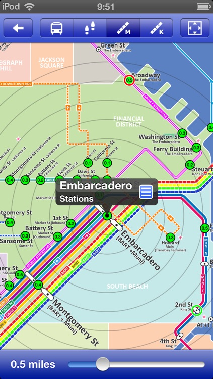 San Francisco Metro - Map and route planner by Zuti screenshot-3
