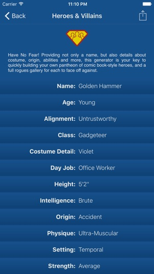 Characterize - Randomize Names on the App Store