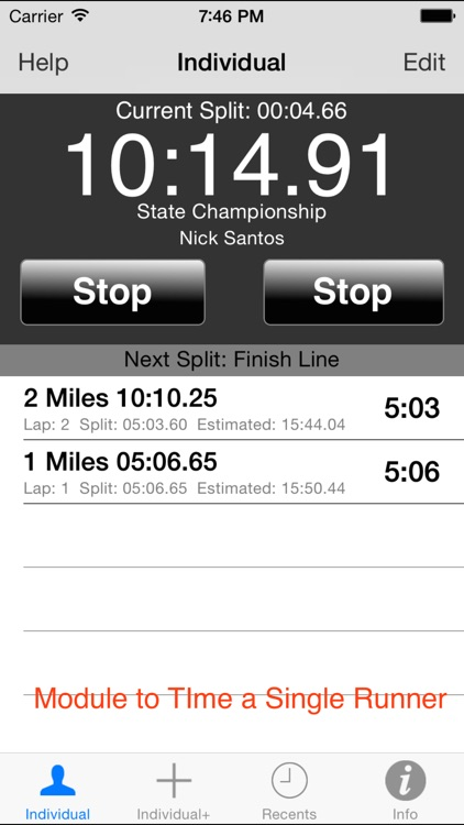 StopWatch for Cross Country & Road Races