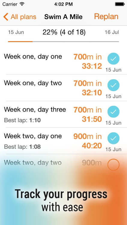 Swim! Bike! Run! : workout plans for swimming, cycling and running screenshot-1