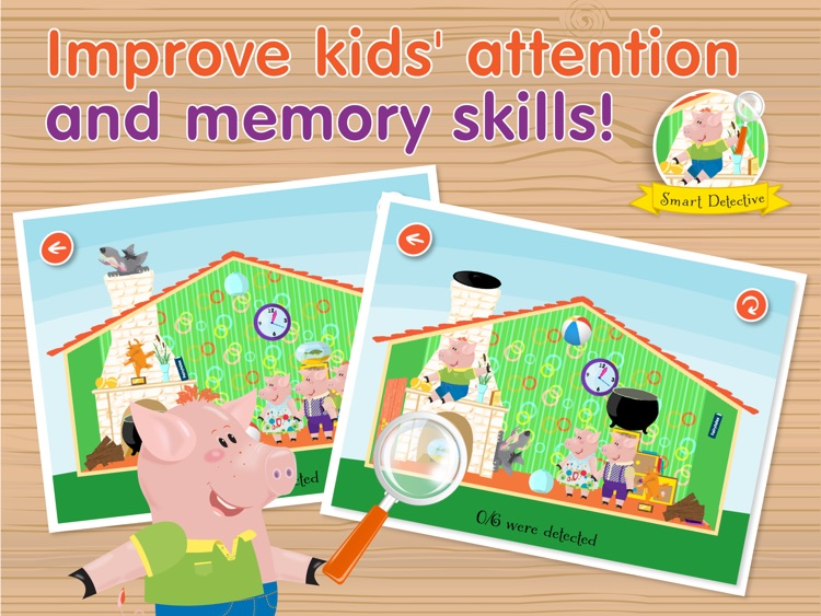 Kids Academy • The Three Little Pigs HD - Interactive bedtime story book with fun puzzle games and learning activities. Best educational app for Baby, Toddlers and Preschool children. screenshot-4