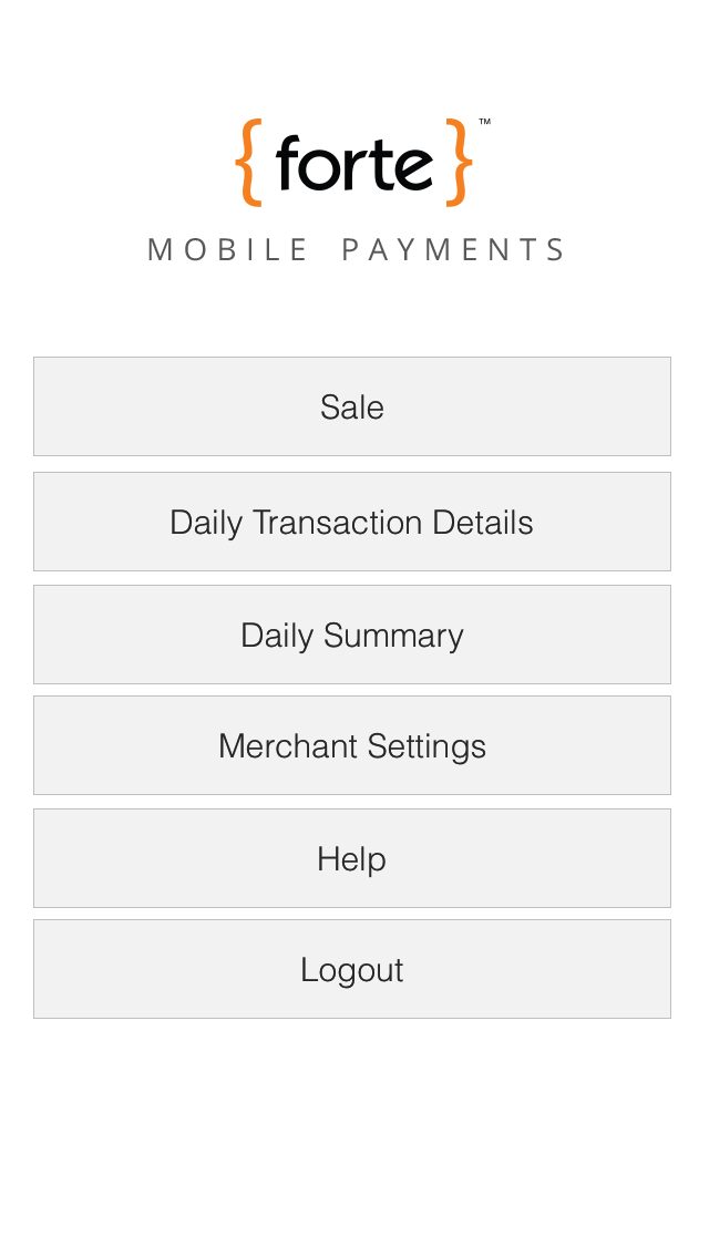 Forte Mobile Payments screenshot one