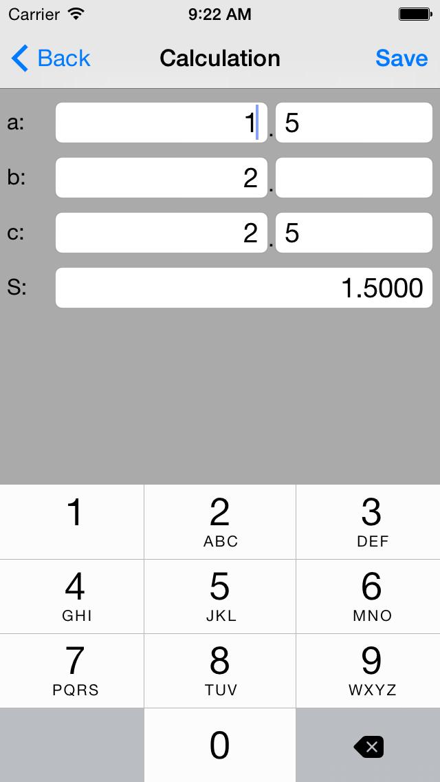 Square calculator(heron Formula) Triangle S   App Price Drops