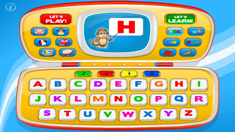 Magic Laptop Preschool All-In-One • Activity Kids Learning Toy Phone - TeachMe Farm and Zoo Animals, Colors, Shapes, Letters, Numbers, Vehicles, Alphabet, Toys, Fruits - Games for Baby, Toddler and Preschool Children by Abby Monkey®
