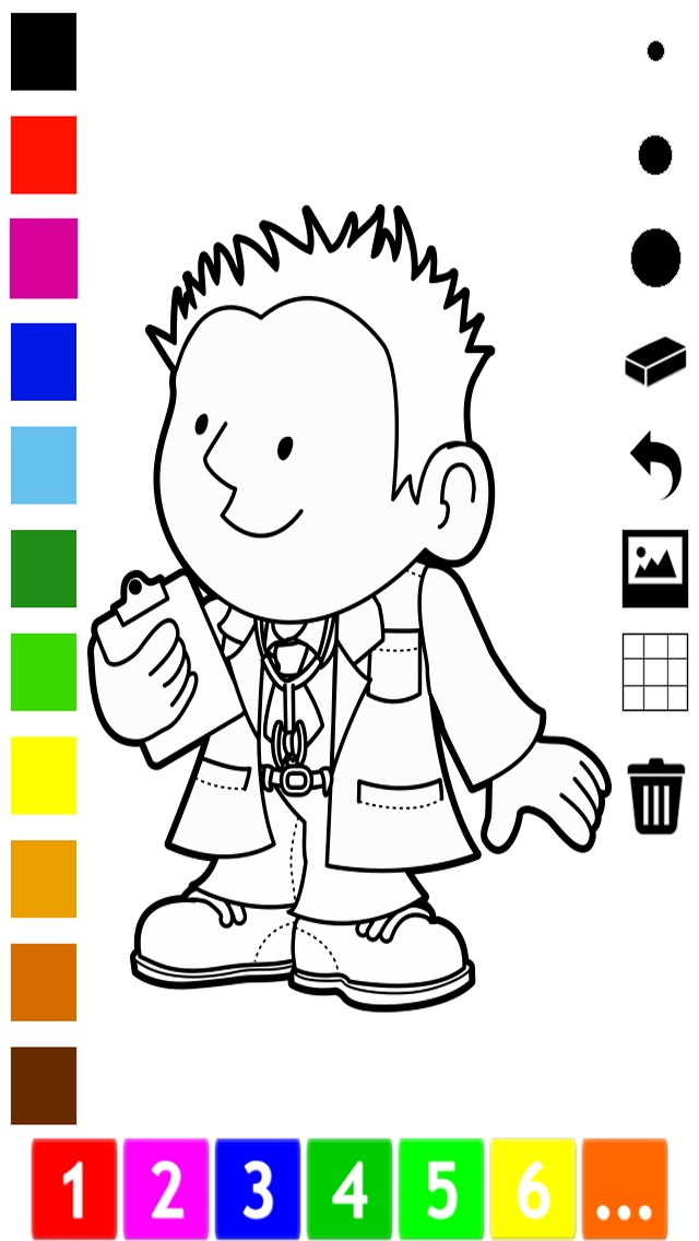 Activo! Libro para colorear de Ocupaciones para los niños: Aprende a ...