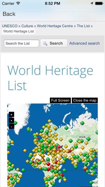 World Heritage Map screenshot-3