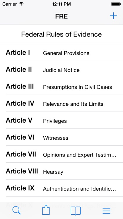Federal Rules of Evidence (FRE)