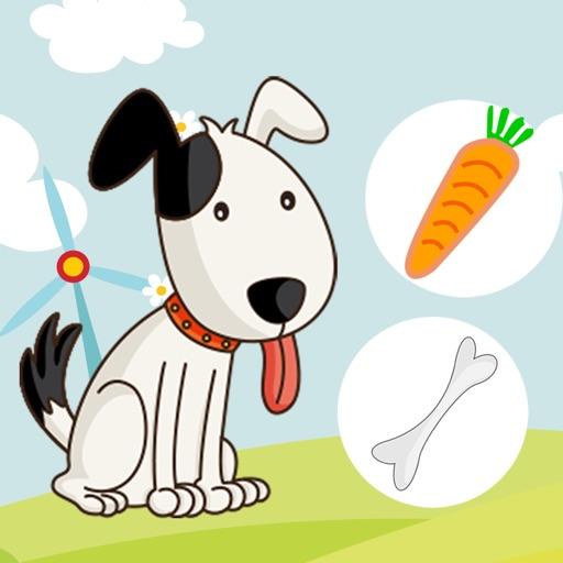 Aktiv-Spiel Für Kinder Über den Bauernhof - Tiere Füttern Lernen Wie Kuh, Hund, Schaf, Pferd, Katze, Kaninchen