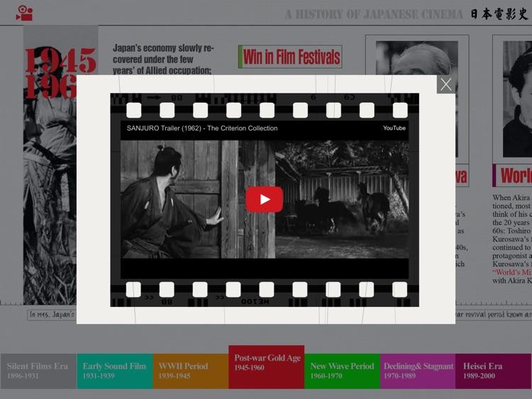 A History of Japanese Cinema -An Interactive Timeline screenshot-4