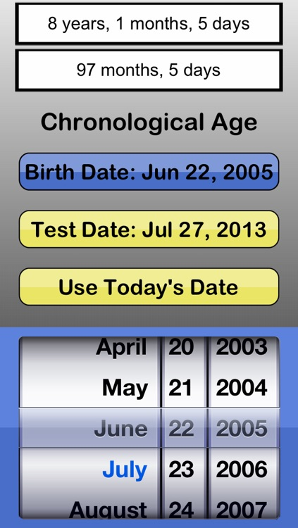 #1 Chronological Age Calculator