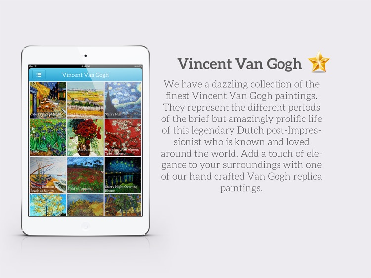 Art Gallery HD for iPad - Van Gogh , Monet , Klimt , Renoir