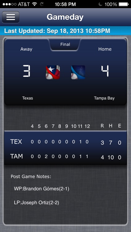 Tampa Bay Baseball Live screenshot-0