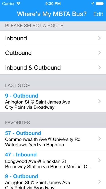 Where's my MBTA Bus? Lite screenshot-3