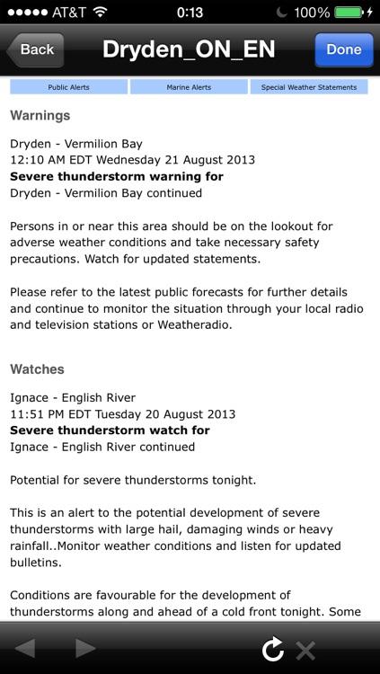 Weather Alert Ontario 2 screenshot-4