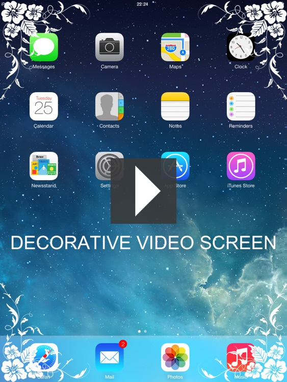 Decor video screen