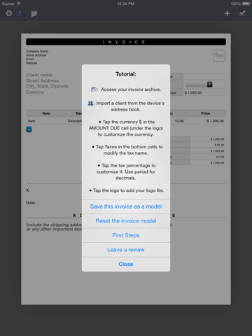 PDF Invoice Generator : Quick and Easy invoicing template app for the  mobile freelancers | App Price Drops