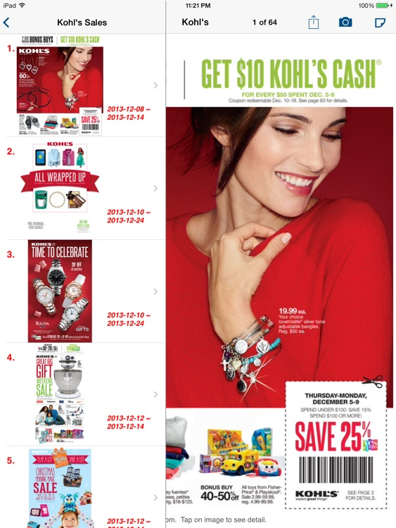 Weekly Circulars, Sales, Deals & Coupon Savings, Ads for Shopping at Target, Walmart, Macy's, Walgreens, Costco, Kmart for iPad