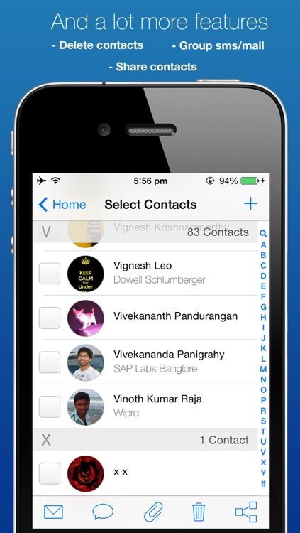 ContactBox: Group mail/sms, merge/delete contacts and backup contacts: screenshot-4