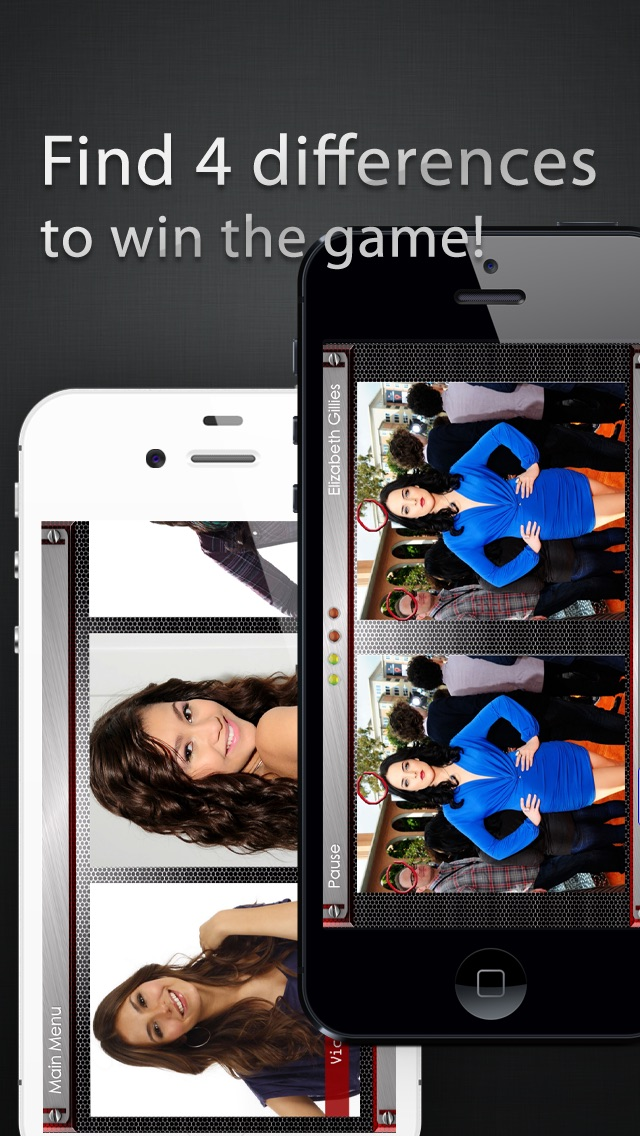 Spot My Celeb! - Find the Difference Celebrity Photo Quiz Game Screenshot
