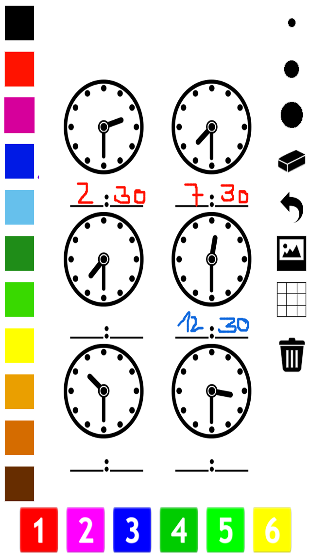A Clock Coloring Book for Children: Learn to Read the Time of