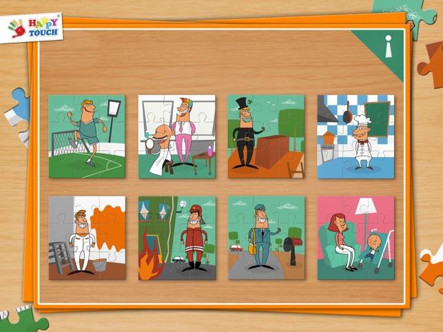 Puzzle de las profesiones para ni os peque os y ni os a - Puzzles para ninos pequenos ...