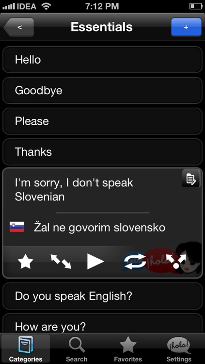 Lingopal Slovene LITE - talking phrasebook screenshot-1